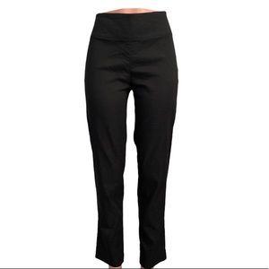 Sarah Pacini High Waist Stretch Linen Pants